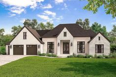 Exclusive 4-Bed French Country Home Plan with Optional Bonus Room - 51764HZ   Architectural Designs - House Plans