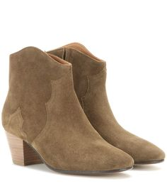 ISABEL MARANT Étoile Dicker suede ankle boots. #isabelmarant #shoes #及踝靴