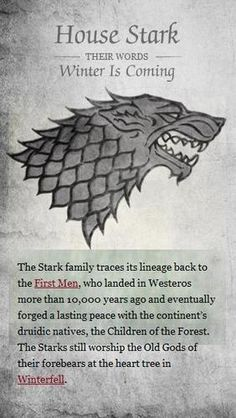 House Stark - Game of Thrones Photo - Fanpop fanclubs Got Game Of Thrones, Game Of Thrones Houses, Winter Is Here, Winter Is Coming, Sons Of Anarchy, Casa Stark, Game Of Trone, Mejores Series Tv, Stark Family