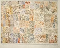 Paul Klee 'Rhythmen einer Pflanzung'(Rhythms of a Plantation) 1925 Watercolor on paper laid on cardboard