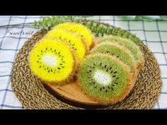 How to Crochet for Absolute Beginners - Kiwifruit Scrubby Yarn, Crochet Scrubbies, Crochet Kitchen, Crochet Home, Knit Crochet, Kiwi, Crochet Fruit, Fruit Pattern, Craft Projects