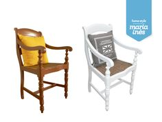 Mais uma cadeira de braços. Reciclagem para Cliente.