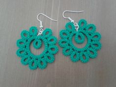 Paisley tatted earrings