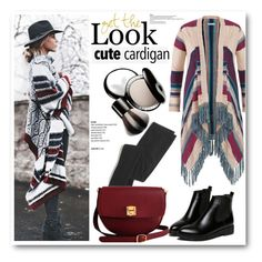 """""""Cute Cardigan"""" by sportsonista ❤ liked on Polyvore featuring maurices, Madewell, Chantecaille and The Code"""