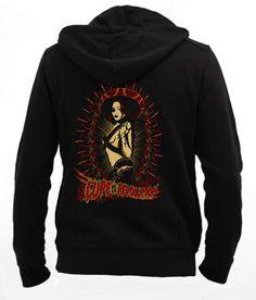 Lupe de la Revolución - Zip Zip Hoodie Sweatshirt ••• Sudadera Negra 37.50€ ✠ #LeviathanCo #tshirt #design #psychobilly #creative #create #clothes #vintage #diseño #lifestyle #rockNroll #pinup #rockabilly #hotrod #tattoos #motocicletas #bikers #camiseta #rider