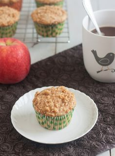 Tracey's Culinary Adventures: Caramel-Apple Streusel Muffins