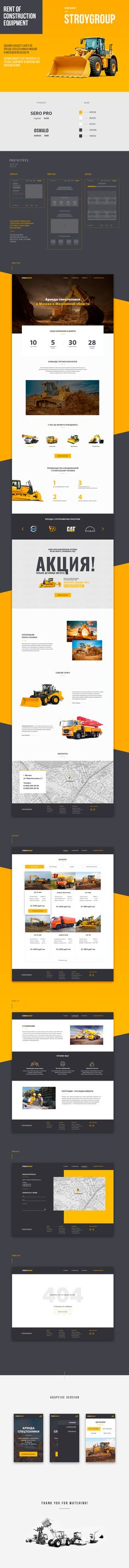 STROYGROUP - rent of special equipment on Behance