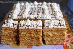 "Tort ""Arlechin"" - este chiar mai bun ca Napoleonul - Bucatarul Sweet Recipes, Cake Recipes, Poppy Cake, Food Cakes, Cake Cookies, Fun Desserts, Vanilla Cake, Bakery, Deserts"