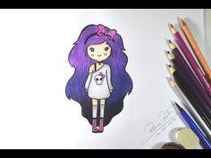 Girly Drawings, Art Drawings Sketches, Cartoon Drawings, Baby Illustration, Tumblr Girls, Teen Wolf, Smurfs, My Arts, Anime