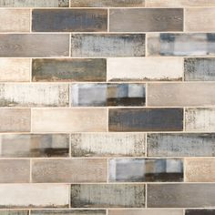 Wheatside Blue Ceramic Tile - 4 x 12 - 100517457 Kitchen Tiles, Kitchen Countertops, Kitchen Decor, Diy Kitchen, Stone Kitchen Backsplash, Onyx Countertops, Contemporary Kitchen Backsplash, Kitchen Brick, Kitchen Layouts