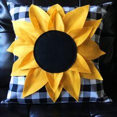 KIT (Pillow): Sunflower Pillow Kit (Gingham)