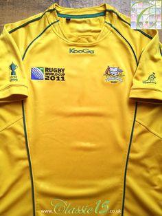ccca6af4b73 2011 Australia Home World Cup Rugby Shirt (L). Australia RugbyWorld Cup  MatchRugby ShirtsWord ...
