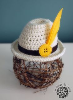 Crochet fedora baby hat - Baby Photo Prop - Fedora hat - Newborn Photo Prop. $20.00, via Etsy.