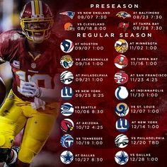 The 2014 Redskins schedule!