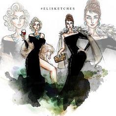 Who wore it better? MarilynXAudrey #elisketches #fashionillustration