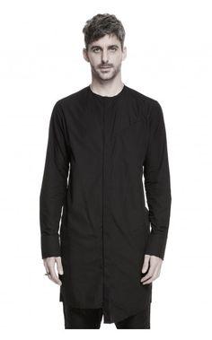 Aleks Kurkowski long raw cut shirt from unconventional