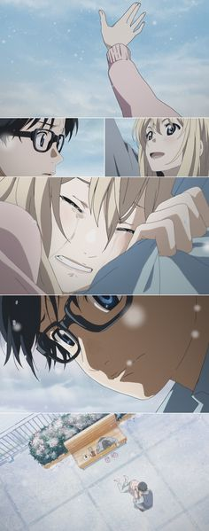 Shigatsu wa kimi no uso, Your Lie in April, Kaori, Kousei>>>>>makes me cry every time, this scene...*sobs* April Quotes, Anime Qoutes, You Lie In April, Anime Love, All Anime, Me Me Me Anime, Anime Shows, Anime Art, Manga Anime