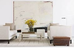 sofa // Decorating With White Walls: Country, Traditional, Contemporary & More