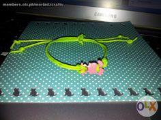 cord bracelet with rabbit charm