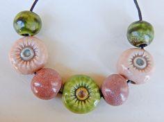 Set 7 Beads  By Mª Carmen Rodriguez . https://www.facebook.com/groups/CeramicArtBeadMarket/