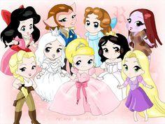 Chibi-Disney princesses and girls by rebenke on DeviantArt Disney Pixar, Chibi Disney, Disney And Dreamworks, Disney Cartoons, Disney Animation, Disney Characters, Disney Memes, Disney Dream, Disney Love