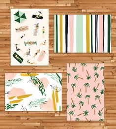 Hand-Painted Beach Postcard Set by Idlewild Co. on Scoutmob