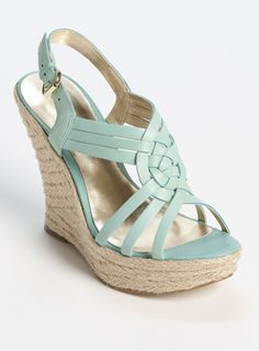 wedges wedges wedges    Since surgery wedges are all I can wear.. love this mint green!