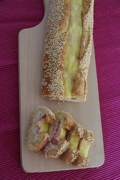 Baguette pour l'apéro Oeuf - Jambon et Fromage