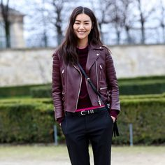 Paris Fashion Week Street-Style 2014  - Nice combination of fabric and style
