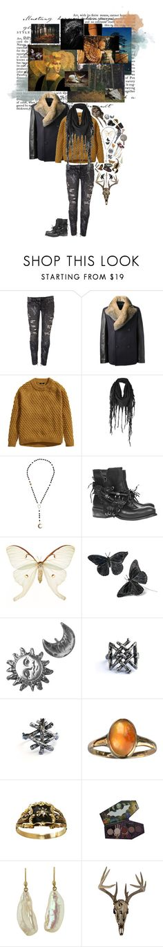 """I am going to the west"" by reslain ❤ liked on Polyvore featuring Maison Margiela, Yves Salomon, H&M, Firetrap, Alkemie, Stefanie Sheehan Jewelry, Disturbia, Smith & Wesson, Swarovski and Ted Muehling"