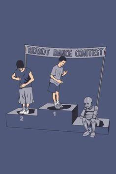 Hay cosas que aún hacemos mejor que los Robots! (Robot Dancing Contest) :)