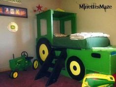 boys john deere room decor perfect for your little farmer she shows you how to paint a john deere little boy bed perfect for thomas t