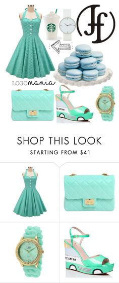 """#blue#cute#lovely#"" by nastya-perfect ❤ liked on Polyvore featuring Design Inverso, TKO Orlogi and Kate Spade"
