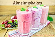 Rezepte für fruchtige Eiweißshakes zum Abnehmen, mit Kirschen, schwarzen Johannisbeeren oder Himbeeren ...