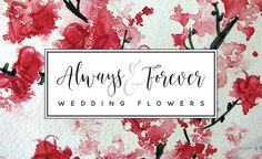 florist logo design - script font, black and white on cherry blossoms - www.whitemousedesign.com.au