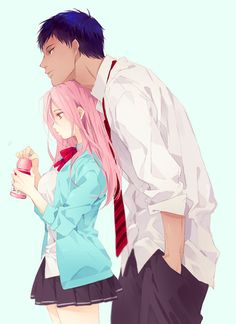 Love how these two are like siblings in the show :) Satsuki & Aomine from Kuroko no Basket