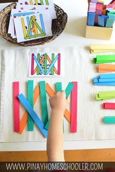 Follow the pattern logic game #printables #kidsactivities #animals #zoounit