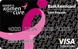 0% intro APR until June 2013,12.99-20.99% variable APR, $0 Annual fee,From February 2012 to May 2015, Bank of America is guaranteeing a minimum of 1,000,000 dollars to Susan G. Komen™  https://www.bankofamerica.com/credit-cards/products/susan-komen-credit-card.go