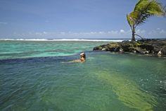 Lava Rock Infinity Pool at Sa'Moana Resort, Samoa