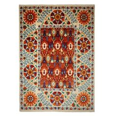 "Suzani Collection Oriental Rug, 9'2"" x 12'8"" 