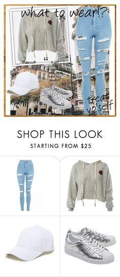 """what to wear"" by demi-demetria-lovato ❤ liked on Polyvore featuring Topshop, Sans Souci, Sole Society and adidas Originals"