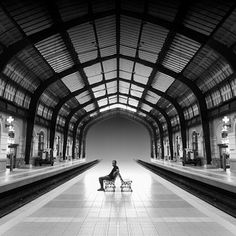 Pireas Athens Train Station Photo By Julie Meric World's Most Beautiful, Athens Greece, Greece Travel, Travel Inspiration, Cool Pictures, Explore, Black And White, Architecture, Visit Greece