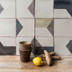 Perfectly imperfect, Marianne Smink's hand formed tiles add instant character. More on RM. @sminkthings #sminkthings #rmkitchens #rmpalettes #RMhandmade