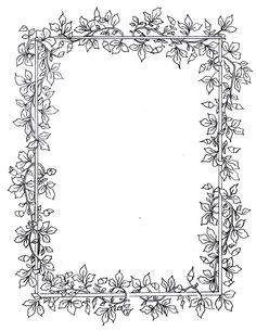 Billedresultat for floral frames and borders Border Pattern, Border Design, Weaving Loom Diy, Printable Frames, Drawing Frames, Wood Burning Patterns, Shadow Art, Borders And Frames, Vector Shapes