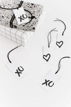 DIY Cadeau labels met hartjes en XO om uit te printen