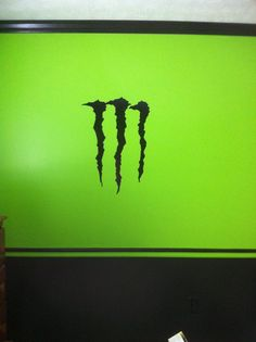 You can't have a motocross themed bedroom without Monster! Bedroom Themes, Teen Bedroom, Bedroom Ideas, Motocross Bedroom, Monster Bedroom, Camo Rooms, Dirt Bike Room, Trophy Rooms, Monster Energy