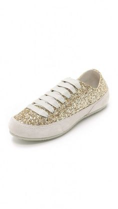 Gold sparkly sneakers