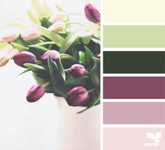 {} Tonalidades tulipán imagen a través de: @ofheartandhome