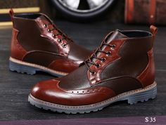 US $35 Steampunk Chic Mens Riding Punk Ankle Boots Trendy Patchwork Classical Men Shoe Casual Leather Boots Knight Dress Shoes