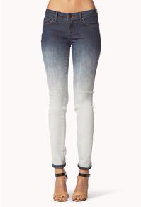 Ombré blue jeans